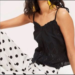 NWT TOPSHOP || Broderie Camisole Top